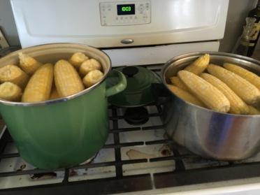 blanching corn
